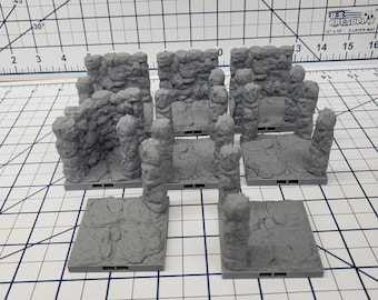 "Caverns - Pillar Tiles- DragonLock - DND - Pathfinder - RPG - Dungeon & Dragons - 28 mm / 1"" - Terrain - Fat Dragon Games"