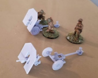 Skoda 37mm / 70mm Hybrid gun - Great for Table Top War Games And Dioramas - Resin 28mm Miniatures - Bolt Action -