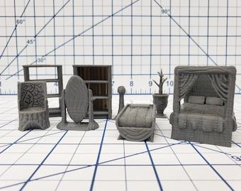 """Forest of Oakenspire - Furniture Scatter Set - Hero's Hoard - DND - Pathfinder - Dungeons & Dragons - RPG - Tabletop - EC3D - 28 mm - 1"""""""