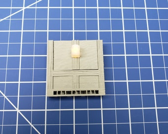 """Half-Timbered Torch Wall - Dragonshire - Building - Fat Dragon Games - DND - Pathfinder - RPG - Terrain - 28 mm/ 1"""" - Dungeon & Dragons"""