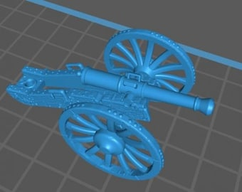 French Artillery 8lb gun and limber - Great for Table Top War Games And Dioramas - Resin 28mm Miniatures - Bolt Action -
