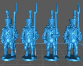 French Line elites1808, high uniform - Great for Table Top War Games And Dioramas - Resin 28mm Miniatures - Bolt Action -