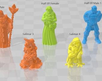 Core Minis 3 - DND - Dungeons & Dragons - RPG - Pathfinder - Tabletop - TTRPG - Demizens of Fantasy - Dark Realms - 28 mm