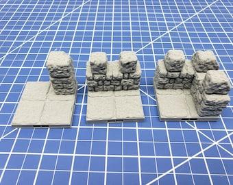 "Keep Style - 2"" Wall Tiles- DragonLock - DND - Pathfinder - RPG - Dungeon & Dragons - 28 mm / 1"" - Terrain - Fat Dragon Games"