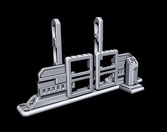 "Checkpoint Turnstyle Doors - Novus Landing - Starfinder - Cyberpunk - Science Fiction - Syfy - RPG - Tabletop - Scatter- Terrain- 28 mm / 1"""