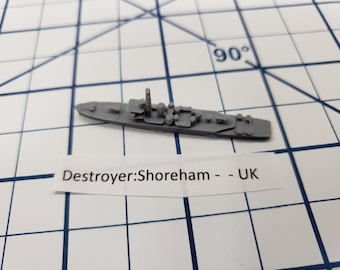 Destroyer - Shoreham Class - Royal Navy - Wargaming - Axis and Allies - Naval Miniature - Victory at Sea - Tabletop Games - Warships