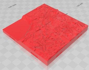 "River Bases Grid Set - Shadowgrove Set 2 -Fat Dragon Games- DND- Pathfinder -RPG- Terrain-28 mm / 1"" - Dungeon & Dragons - Warhammer"