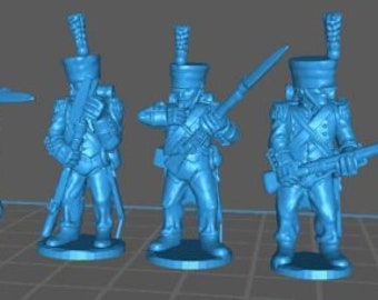 French Skirmishers 1808, campaign dress - Great for Table Top War Games And Dioramas - Resin 28mm Miniatures - Bolt Action -
