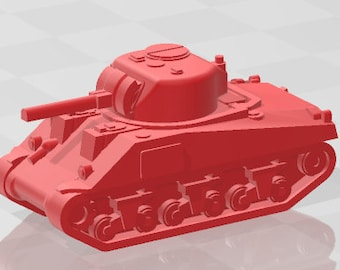 Sherman I - US - Tanks - Armored Vehicle - World Of Tanks - War Game - Wargaming - Axis and Allies - Tabletop Games