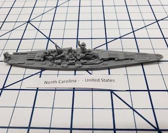 Battleship - North Carolina - US Navy - Wargaming - Axis and Allies - Naval Miniature - Victory at Sea - Tabletop Games - Warships