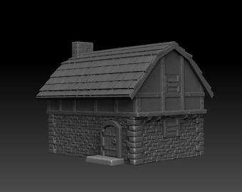 House 2 - DND - Dungeons & Dragons - RPG - Pathfinder - Tabletop - TTRPG - Medieval Scenery - Dark Realms - 28 mm