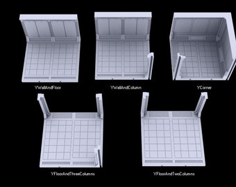 Y_Axis Corridor - Atomic Shelter - Atom Punk - Starfinder - Cyberpunk - Science Fiction - Syfy - RPG - Tabletop - Scatter - 28mm