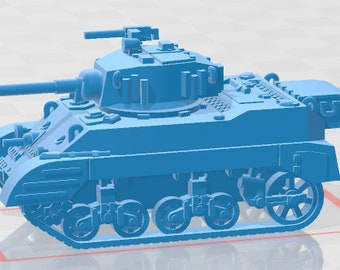 Stuart M5A1 - USA - Tanks - Armored Vehicle - World Of Tanks - War Game - Wargaming - Axis and Allies - Tabletop Games