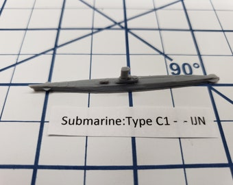 Submarine - Type C1 - IJN - Wargaming - Axis and Allies - Naval Miniature - Victory at Sea - Tabletop Games - Warships