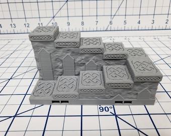 """Mountain King - Stairs Tile - DragonLock - DND - Pathfinder - RPG - Dungeon & Dragons - 28 mm / 1"""" - Fat Dragon Games"""