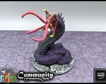 """Overgrown Larvae Alpha - Part of A Den of Alien Evil Collection - DND - Pathfinder - Dungeons & Dragons - RPG - Tabletop - 28 mm / 1"""" - EC3D"""