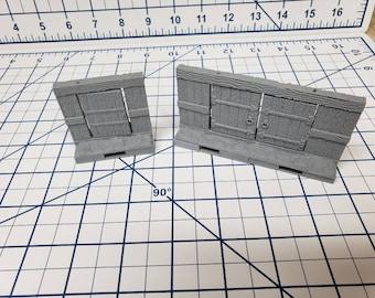 "Mine Wall Doors - OpenLock or DragonLock - Openforge - DND - Pathfinder - Dungeons & Dragons - RPG - Tabletop - 28 mm / 1"""