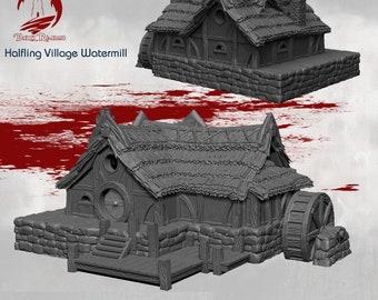 Watermill - DND - Dungeons & Dragons - RPG - Pathfinder - Tabletop - TTRPG - Halfling Village - Dark Realms - 28 mm