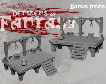 Gallows - DND - Dungeons & Dragons - RPG - Pathfinder - Tabletop - TTRPG - Demizens of Fantasy - Dark Realms - 28 mm