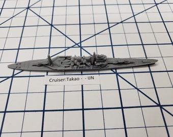 Cruiser - Takao - IJN - Wargaming - Axis and Allies - Naval Miniature - Victory at Sea - Tabletop Games - Warships