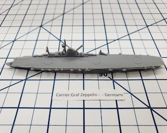 Carrier - Graf Zeppelin - German Navy - Wargaming - Axis and Allies - Naval Miniature - Victory at Sea - Tabletop Games - Warships