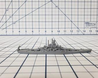 Battleship - Indiana - US Navy - Wargaming - Axis and Allies - Naval Miniature - Victory at Sea - Tabletop Games - Warships