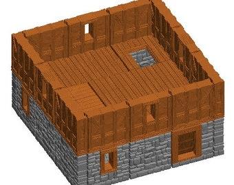 "Medium House/Manor Sets - Dragonshire - DragonLock - Fat Dragon Games - DND - Pathfinder - RPG - Terrain - 28 mm / 1"" - Dungeon & Dragons"