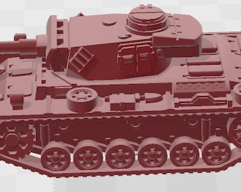 PZ-III-M - Germany - Tanks - Armored Vehicle - World Of Tanks - War Game - Wargaming -Tabletop Games
