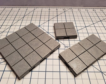 """Cut Stone Square Floor Tiles - OpenLock or DragonLock - Openforge - DND - Pathfinder - Dungeons & Dragons - RPG - Tabletop - 28 mm / 1"""""""