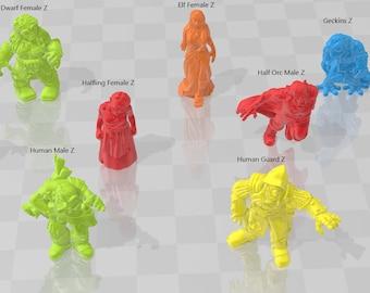 Zombies - DND - Dungeons & Dragons - RPG - Pathfinder - Tabletop - TTRPG - Demizens of Fantasy - Dark Realms - 28 mm