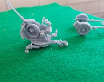 German Flak 38 20mm Auto Cannon v 2.0 - Great for Table Top War Games And Dioramas - Resin 28mm Miniatures - Bolt Action -