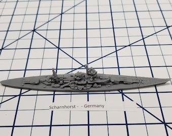 Battleship - Scharnhorst - German Navy - Wargaming - Axis and Allies - Naval Miniature - Victory at Sea - US Navy - Tabletop - Warships