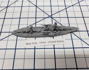 Battleship - Texas - US Navy - Wargaming - Axis and Allies - Naval Miniature - Victory at Sea - Tabletop Games - Warships
