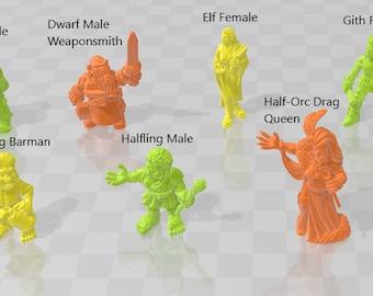 Core Minis 1 - DND - Dungeons & Dragons - RPG - Pathfinder - Tabletop - TTRPG - Demizens of Fantasy - Dark Realms - 28 mm