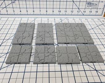 "Dungeon Style - Ruined Floor Tiles - DragonLock - DND - Pathfinder - RPG - Dungeon & Dragons - 28 mm / 1"" - Terrain - Fat Dragon Games"