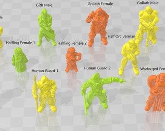 Core Minis 2 - DND - Dungeons & Dragons - RPG - Pathfinder - Tabletop - TTRPG - Demizens of Fantasy - Dark Realms - 28 mm