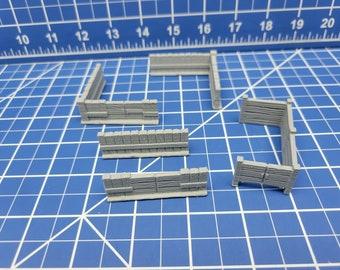 Small Fence Set - DND - Dungeons & Dragons - RPG - Pathfinder - Tabletop - TTRPG - Village of Verrell - 28 mm