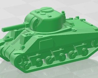 Sherman V - US - Tanks - Armored Vehicle - World Of Tanks - War Game - Wargaming - Axis and Allies - Tabletop Games
