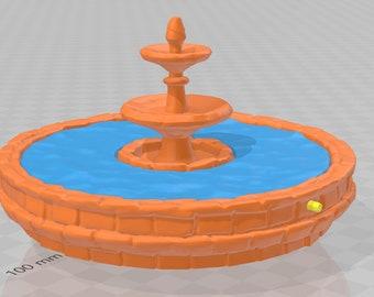 Town Fountain - DND - Dungeons & Dragons - RPG - Pathfinder - Tabletop - TTRPG - Demizens of Fantasy - Dark Realms - 28 mm