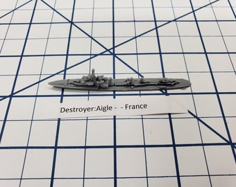 Destroyer - Aigle Class - French Navy - Wargaming - Axis and Allies - Naval Miniature - Victory at Sea - Tabletop Games - Warships