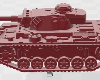 PZ-III-L - Germany - Tanks - Armored Vehicle - World Of Tanks - War Game - Wargaming -Tabletop Games