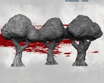 Shirelands Trees - DND - Dungeons & Dragons - RPG - Pathfinder - Tabletop - TTRPG - Halfling Village - Dark Realms - 28 mm