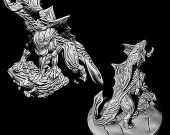 "Judurian Death Cat - Novus Landing - Starfinder - Cyberpunk - Science Fiction - Syfy - RPG - Tabletop - Scatter- Terrain- 28 mm / 1"""