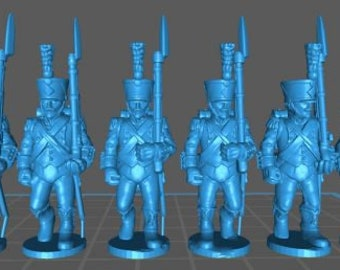 French Light Elites 1808, high uniform - Great for Table Top War Games And Dioramas - Resin 28mm Miniatures - Bolt Action -