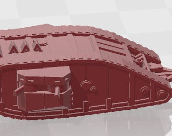 Mark I - UK - Tanks - Armored Vehicle - World Of Tanks - War Game - Wargaming - Axis and Allies - Tabletop Games