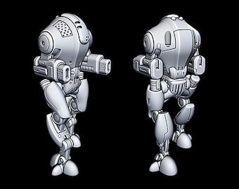 "Defense Bot - Novus Landing - Starfinder - Cyberpunk - Science Fiction - Syfy - RPG - Tabletop - Scatter- Terrain- 28 mm / 1"""