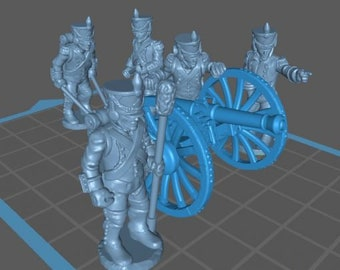 French Artillery 1808, Aiming - Great for Table Top War Games And Dioramas - Resin 28mm Miniatures - Bolt Action -