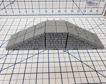 """Dungeon Style - Ramps / Elevated Tiles - DragonLock - DND - Pathfinder - RPG - Dungeon & Dragons - 28 mm / 1"""" - Terrain - Fat Dragon Games"""