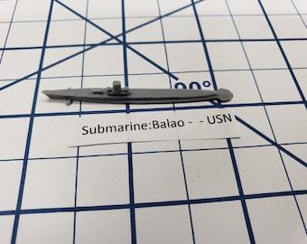 Submarine - Balao Class - USN - Wargaming - Axis and Allies - Naval Miniature - Victory at Sea - Tabletop Games - Warships