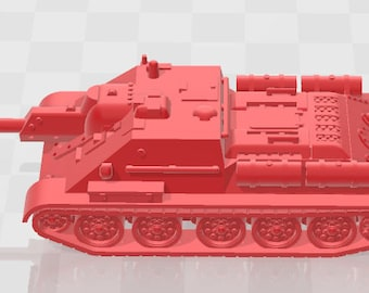 SU-122 - USSR - Tanks - Armored Vehicle - World Of Tanks - War Game - Wargaming - Axis and Allies - Tabletop Games
